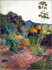 Gallery Print  Küstenlandschaft auf Martinique - Paul Gauguin