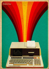 Gallery Print  grandfather computer - David Siml