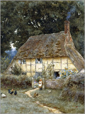 Gallery Print  An der Brook Road bei Witley - Helen Allingham