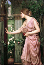 Wandsticker  Psyche öffnet Amors Gartentor - John William Waterhouse