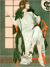 Gallery Print  Dame schreibend - Clarence Coles Phillips
