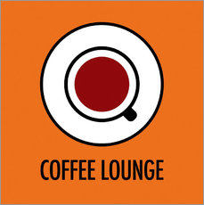 Wandsticker Coffee Lounge, orange