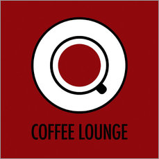 Wandsticker Coffee Lounge, braun