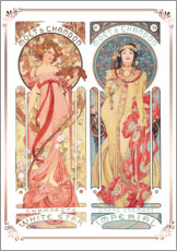 Wandaufkleber  Moet & Chandon, Collage - Alfons Mucha