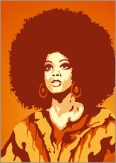Gallery Print  70s Orange Soul Mama - JASMIN!