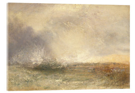 Acrylglasbild  Stürmische See - Joseph Mallord William Turner