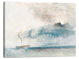 Leinwandbild  Dampfschiff in einem Sturm - Joseph Mallord William Turner