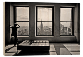 Holzbild  New York - Top of the Rock - Thomas Splietker