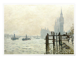 Poster  Themse vor Westminster - Claude Monet