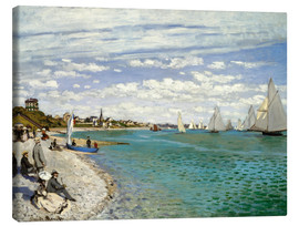 Leinwandbild  Regatta in Sainte-Adresse - Claude Monet
