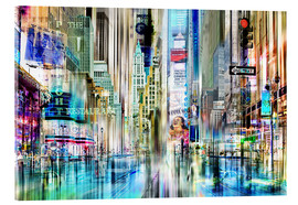 Acrylglasbild  Times Square New York (Collage) - Städtecollagen
