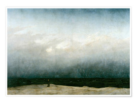 Poster  Mönch am Meer - Caspar David Friedrich