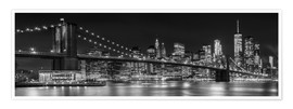 Premium-Poster  New York City Night Skyline - Melanie Viola