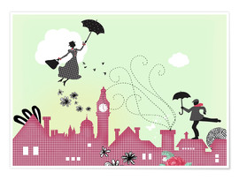 Premium-Poster  Mary Poppins London - Elisandra Sevenstar