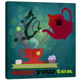 Leinwandbild  Enjoy your tea - Elisandra Sevenstar