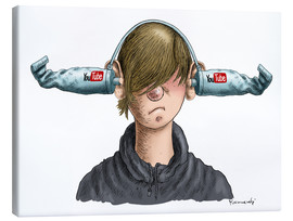 Leinwandbild  You Tube Boy - Marian Kamensky