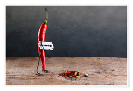 Poster  Simple Things - Scharfe Chilischote - Nailia Schwarz