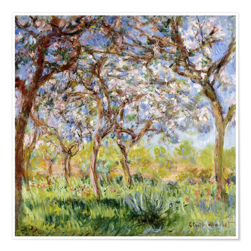 Premium-Poster Frühling in Giverny