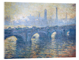 Acrylglasbild  Fluss Themse in London, Waterloo Bridge - Claude Monet