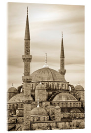 Acrylglasbild  the blue mosque in sepia (Istanbul - Turkey) - gn fotografie