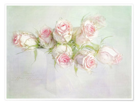Premium-Poster  pretty pink roses - Lizzy Pe