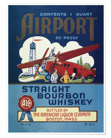 Premium-Poster  Airport Whiskey