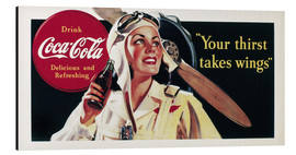 Alubild  Coca-Cola, your thirst takes wings