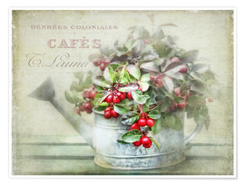 Poster  red berries - Lizzy Pe