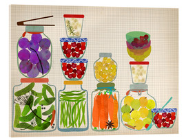 Acrylglasbild  Bottled pickles and fruits - Elisandra Sevenstar