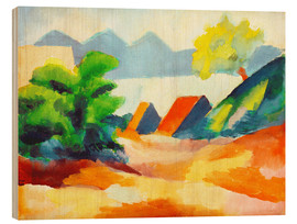 Holzbild  Am Thuner See I - August Macke