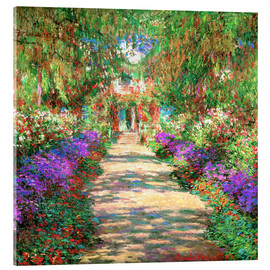 Acrylglasbild  Weg in Monets Garten in Giverny - Claude Monet
