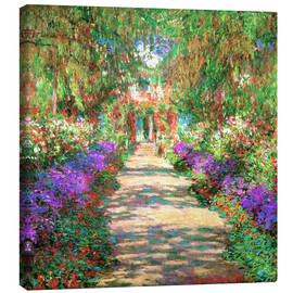 Leinwandbild  Weg in Monets Garten in Giverny - Claude Monet
