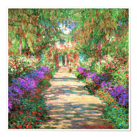 Premium-Poster  Weg in Monets Garten in Giverny - Claude Monet