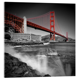 Acrylglasbild  Golden Gate Bridge Fort Point - Melanie Viola