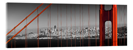 Acrylglasbild  Golden Gate Bridge Panoramic - Melanie Viola