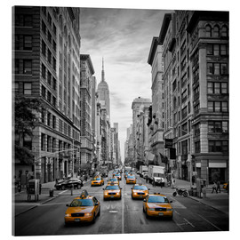 Acrylglasbild  New York City, Verkehr auf 5th Avenue - Melanie Viola