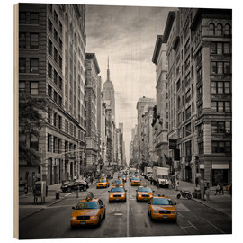 Holzbild  NEW YORK CITY 5th Avenue Verkehr - Melanie Viola