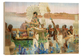 Holzbild  Auffindung Moses durch die Tochter des Pharao - Lawrence Alma-Tadema