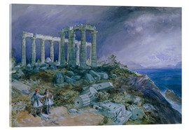 Acrylglasbild  Der Tempel des Poseidon, Sunium, 1877 - William 'Crimea' Simpson