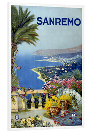 Hartschaumbild  Italien - Sanremo - Travel Collection