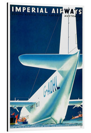 Alubild  Imperial Airways - Wasserflugzeug - Travel Collection