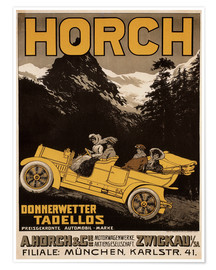 Premium-Poster  Horch Autos - Donnerwetter tadellos - Advertising Collection