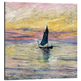 Alubild  Segelboot am Abend - Claude Monet