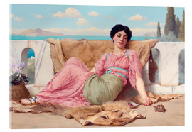 Acrylglasbild  Ein ruhiges Haustier - John William Godward