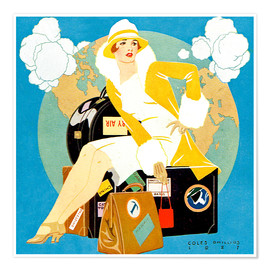 Poster  Reisen Lady - Life-Magazin 1927 - Clarence Coles Phillips