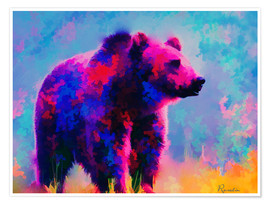 Premium-Poster Grizzly Bär