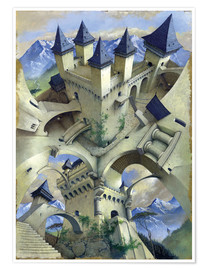 Poster  Schloss der Illusion - Irvine Peacock