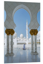 Hartschaumbild  Scheich Zayed Grand Mosque, Adu Dhabi, Emirates - Matteo Colombo
