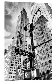 Sascha Kilmer - Wolkenkratzer in New York - Chrysler Building (monochrom)