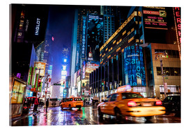 Acrylglasbild  Broadway by night - New York City - Sascha Kilmer